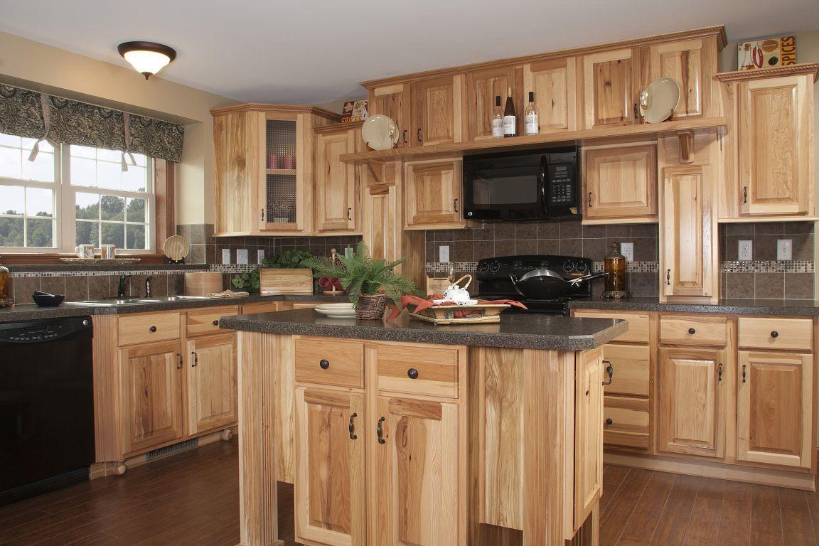 Interior Raised Panel Kitchen Cabinets hickory raised panel kitchen hr137a pennwest homes expand