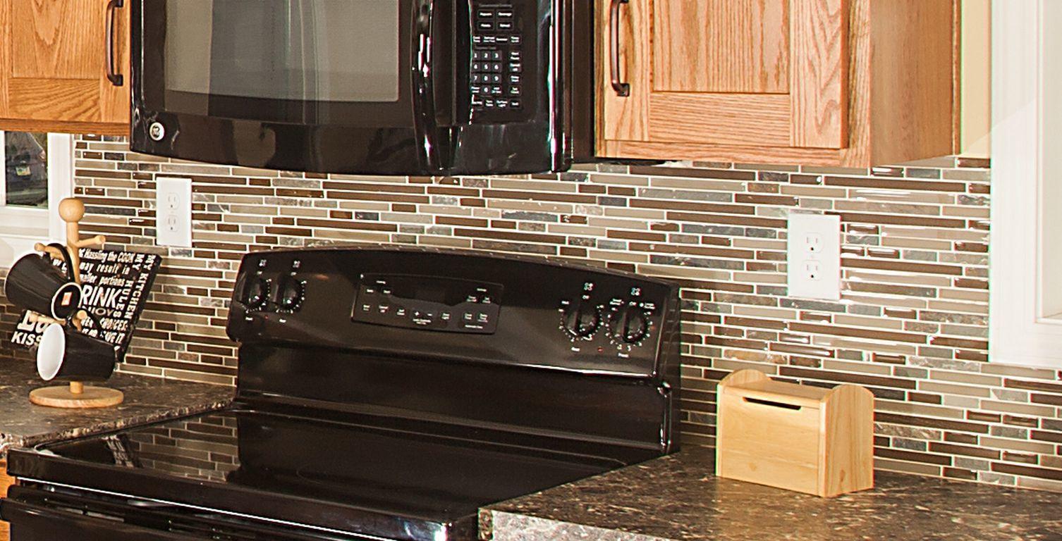 - Linear Mosaic Full Backsplash Pennwest Homes