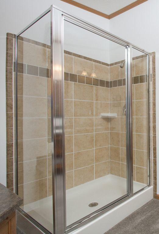 48x36 2-Sided Ceramic Tile Shower | Pennwest Homes