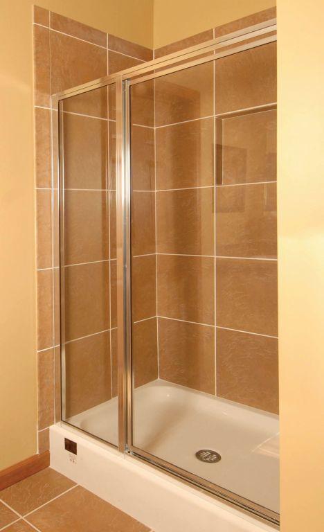 48x36 3-Sided Ceramic Tile Shower | Pennwest Homes