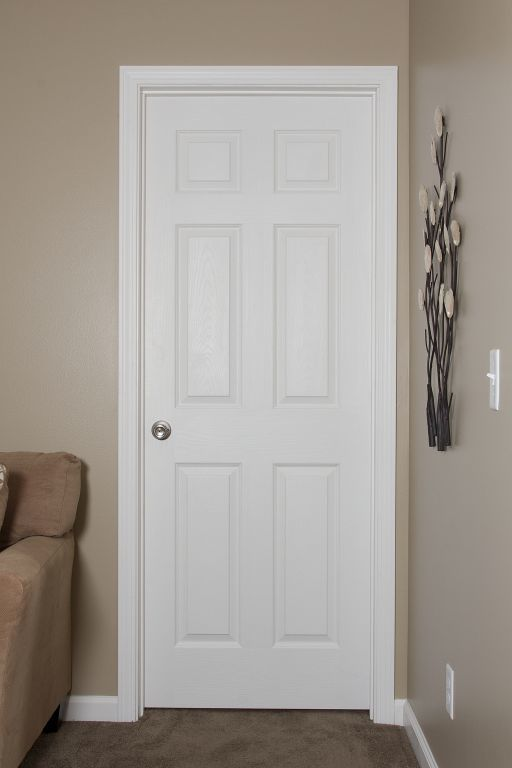 6 Panel White Embossed Interior Door Pennwest Homes