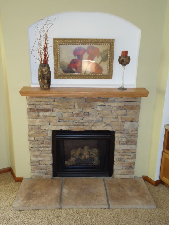 Stacked Stone Fireplaces hand laid 1/2 stacked stone fireplace | pennwest homes