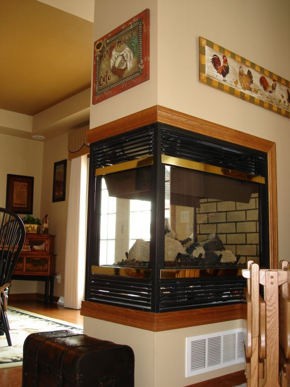 3 Sided Fireplace Pennwest Homes