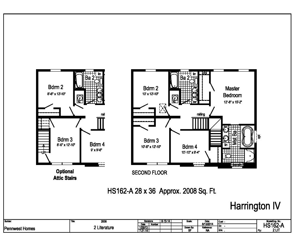 pennwest 2-story modular - the harrington iv
