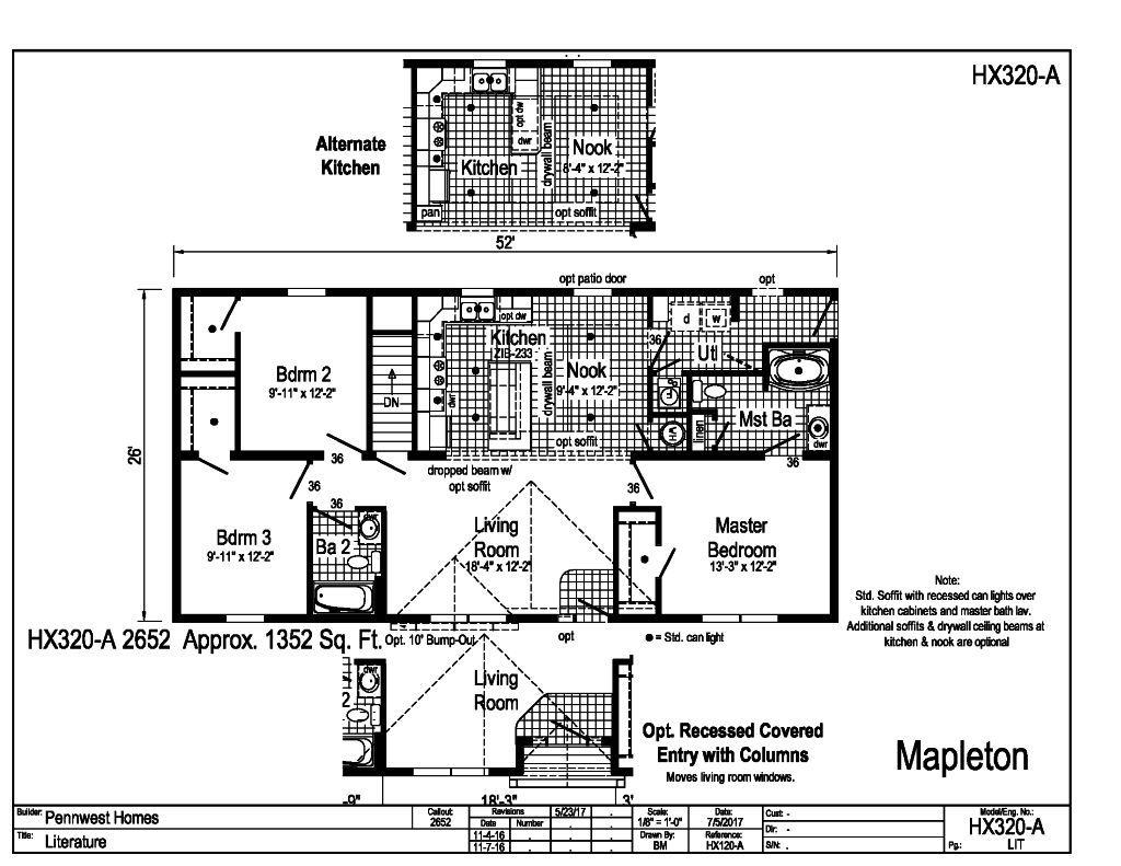 cambridge 2 ranch collection - mapleton