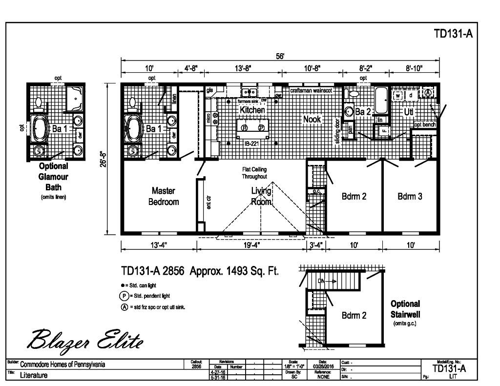 Blazer - Blazer Elite - TD131A | Find a Home | Pennwest Homes on commodore mobile home pricing, single wide homes floor plans, modular home floor plans,
